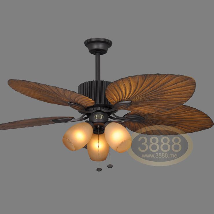 Tropical de triple ventilador de techo r stico se enciende - Ventiladores de techo rusticos ...