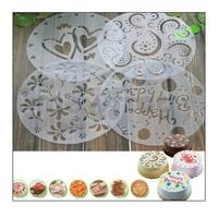 4Pcs/Lot Environmental Beautiful Baking Tools Spray Cake Spray Print Sugar Sieve West Decoration