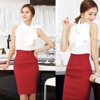2014 new Women's Retro dress Casual High Waist Bag Hip Knee Length OL dress M,L,XL 5 Colors13810