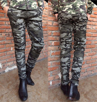 2013 Camouflage pants skinny pants male trousers overalls male casual pants trousers  free shipping