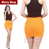2014 Hot Selling Fashion High Waist Women Summer Short Skirt Lady Skirts Work Formal Skirt Fashion Women Mini Skirts 12 Color