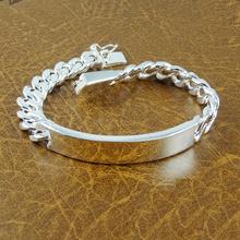 Sale Fashion men jewelry Link Chain silver Bracelet 925 Silver bracelets & bangles BG107 Free shipping