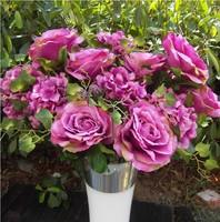 1 Large Bunch 6 Colors Hybrid Rose Hydrangea Flowers Accessories Artificial Flower Bouquet Wedding Flowers Home Decorations