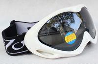 New Double Lens Polarized Anti Fog Windproof Ski Goggles UV400 Protection Europe Style Snow Glasses White frame black lens