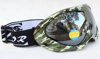 Rayzor Double Lens Polarized Anti Fog Windproof Ski Goggles UV400 Protection White Europe Style Snow Glasses green frame black