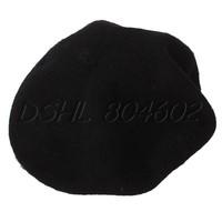 Black Kid Toddler Child Warm Wool Dance Party Cap Hat Winter Beret