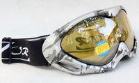 Rayzor Double Lens Polarized Anti Fog Windproof Ski Goggles UV400 Protection Europe Style Snow Glasses camouflage frame