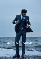 Hot Recommend two buttons Custom any size any colour Groom Tuxedos wedding suit  A41