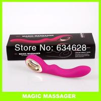Quality lealso female masturbation massage stick vibration with charge--Pink