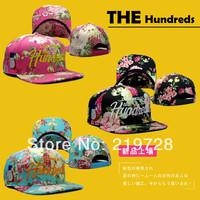 2014 Top Fashion flower THE HUNDREDS SNAPBACK Brand Fashion hats Flat brim hat Baseball Snapback Cap Casual Sun Cap