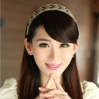 4 colors, straight bangs with hair clip, synthetic hair  bangs, blonde wig, 50pcs/lot
