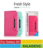 Wholesale Galaxxy S5 Mobile Phone Bags,KALAIDENG Fresh Series PU Leather Flip Cover Cases For Samsung Galaxy S5 SV G900 30pcs/l