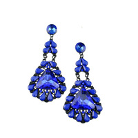 Hot High Quality Women Long Big Alloy & Resin Pendant Vintage Earrings Handmade Bohemia/Ethnic Statement Earring Jewelry E016011