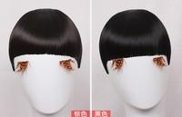 4 colors, straight bangs, synthetic hair bangs, hair bang extensions, 100pcs/lot