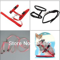 Pet Cat Nylon Lead Leash Adjustable Collar Harness Kitten Belt Safety Rope Strap