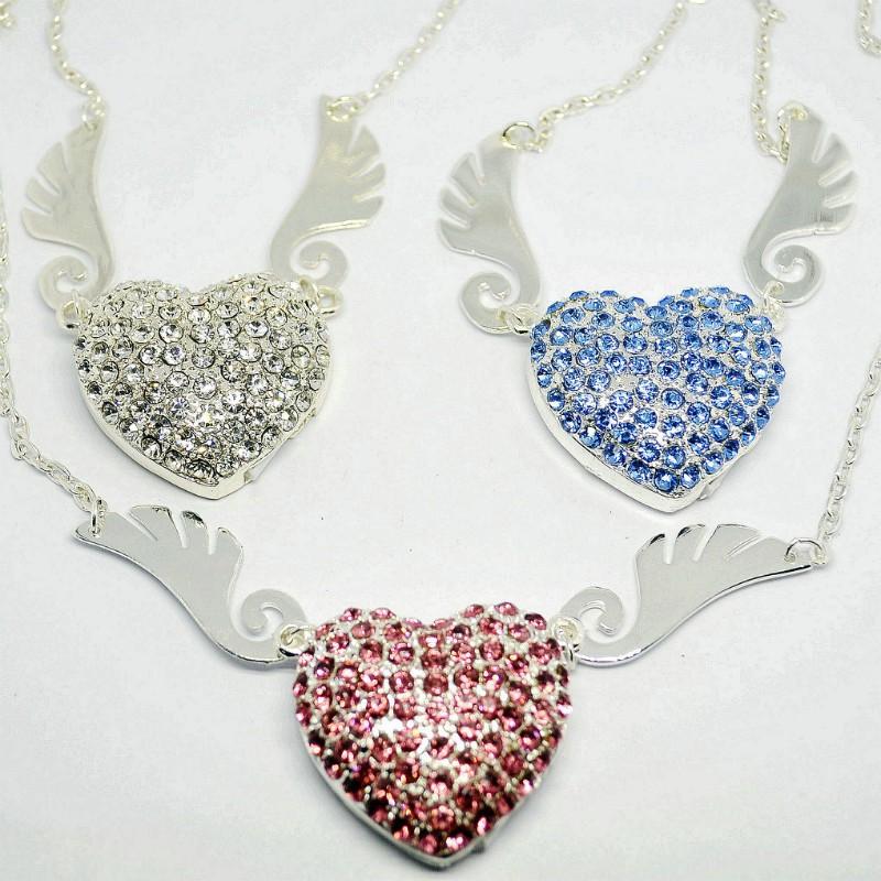 wholesale jewelry usb driver love heart 4gb 8gb 16gb 32gb crystal usb flash drive usb gadgets usb flash memory disk pendrives(China (Mainland))