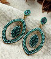 Hot High Quality Women Long Big Alloy & Resin Pendant Vintage Earrings Handmade Bohemia/Ethnic Statement Earring Jewelry E015555