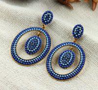 Hot High Quality Women Long Big Alloy & Resin Pendant Vintage Earrings Handmade Bohemia/Ethnic Statement Earring Jewelry E015554