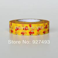 Paper tape stationery shredded paper tape 1.2cm 8m flower decoration custom writing washi tape