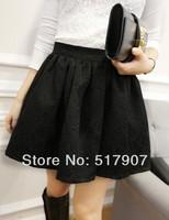 Wholesale Black Flower Mini Skirt, Sexy Mini Skirts, Women High Quality Stretchable Waist Short Mini Dress