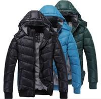 Men's wear his cap down cotton-padded jacket winter jacket men parka long down jacket