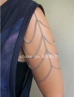 Fashion  2014 New Elegant Women Lady Girl Shoulder Arm Chain Jewelry Fashion Aeeceeories Body Harness 10pcs