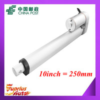 Free Shipping 12v linear actuator with 250mm stroke 225lbs/ 1000N load actuator linear speed of 10mm/s