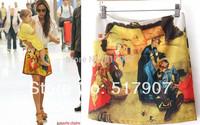 Wholesale Brand Printing Mini Skirt, Sexy Cartoon Print Mini Skirts, Women High Quality Short Mini Bud Dress