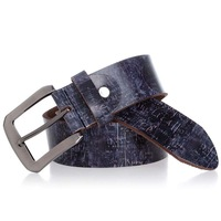 2014 new fashion trends personalized graffiti Men Women leather color leather belt ( with a dedicated box ) 2373