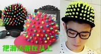 Personalized street hiphop cap fashion rivet cap flat along the cap punk cap lovers sun hat birthday gift