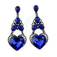 Hot High Quality Women Long Big Alloy & Resin Pendant Vintage Earrings Handmade Bohemia/Ethnic Statement Earring Jewelry E017068