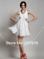 NEW 2014 Free shipping long chiffon women dress fashion summer loose vest swing dress women summer dresses girl beach dress