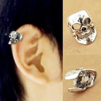 1167 fashion punk earrings skull bone ring clip-on stud earring