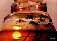 New Beautiful 4PC 100% Cotton Comforter Duvet Doona Cover Sets FULL / QUEEN / KING bedding set 4pcs sunset op-854