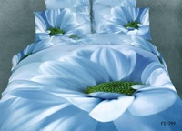 New Beautiful 4PC 100% Cotton Comforter Duvet Doona Cover Sets FULL / QUEEN / KING bedding set 4pcs blue green flower op-854