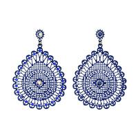 Hot High Quality Women Long Big Alloy&Resin Pendant Vintage Earrings Handmade Bohemia/Ethnic Statement Earring Jewelry ER-018039