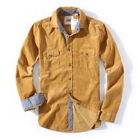 men's quality 100% corduroy fabric cotton corduroy long-sleeve shirt casual shirt