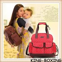 Free shipping!Nappy bag large capacity fashion multifunctional mother bag cross-body bags Mummy Tote Handbag