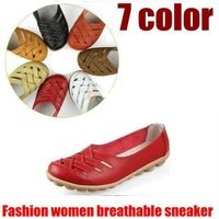 2014 Promotion 7color cheap genuine leather flats mother shoes women sneaker  for women oxford boat shoes ladies flats