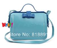 New 2014 Korean Style Color-contrast Branded Oil Wax  Cow Leather Handbag Single Shoulder Bag  Wholesale
