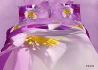 New Beautiful 100% Cotton 4pc Doona Duvet QUILT Cover Set bedding sets Full Queen King 4pcs purple yellow white flower