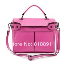 New 2014 HOT Korean Style Fashion Casual High Grade Branded Cow Leather Handbag Single Shoulder Bag Motorcycle Bag Wholesale