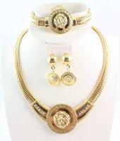 2014 Free Shipping Vintage Lion Head Greek Myth Medusa Pendant Earrings Necklace Bangles Sets