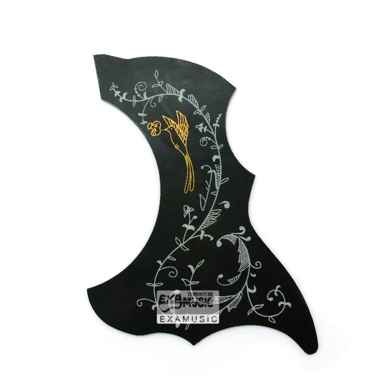 10pcs Hummingbird Acoustic Guitar Celluloid Pickguard Scratch Plate Pick Guard Self Adhesive(China (Mainland))
