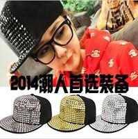 free shipping  Rain paillette blingbling punk hat baseball cap exude cap summer sunbonnet