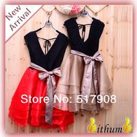 New 2014 Girl dress sexy halter waist tutu princess organza dress evening dress vestidos de fiesta bodycon dress
