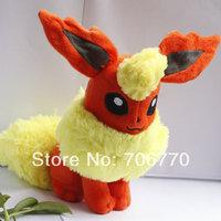 "NEW LOTS POKEMON Takaratomy Pokemon Stuffed 7""Normal Flareon Orange Doll Plush toy IN HAND!"
