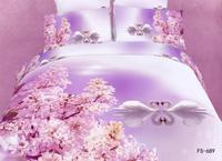 New Beautiful 100% Cotton 4pc Doona Duvet QUILT Comforter Cover Sets bedding set Full Queen King 4pc animal swan pink flower