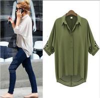 brand style women 2014 feminine blouse Fashion sheer Shirt women european style chiffon cardigan women Blouse ladies blouses