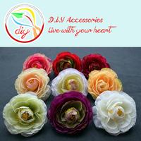 (45 pieces/lot) Bulk Artificial Silk Camellia Flower Head,Flowers For Baby Girls Headband Hair Accessories (9 colors)